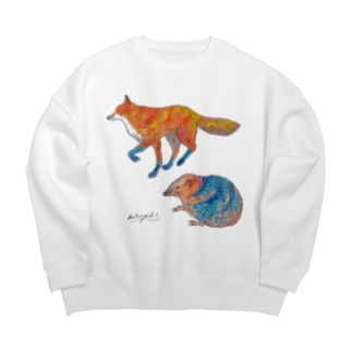 Fox and Hedgehog Big silhouette sweats