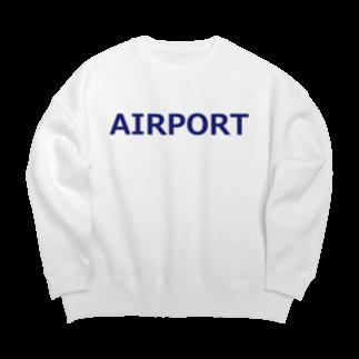 アメリカンベースのエアライングッズ AIRPORT Big silhouette sweats