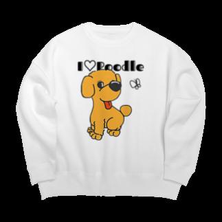 Hi-BoのI Love Poodle Big silhouette sweats