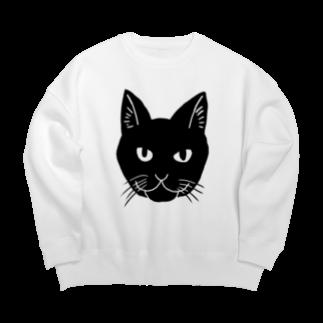 渡邊野乃香のお店の黒猫ジジ Big silhouette sweats