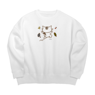 eigoyaの飲みに行く白猫 Big silhouette sweats