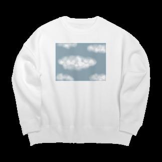Atomatomのしろい雲 Big silhouette sweats