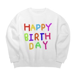 HAPPYBIRTHDAYーお誕生日専用 Big silhouette sweats
