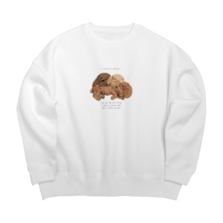 🐩puppy toypoodle Big silhouette sweats
