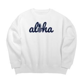 aloha(star)018 navy Big silhouette sweats