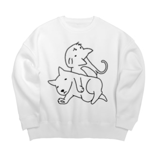 ゆるねこいぬ。 Big silhouette sweats