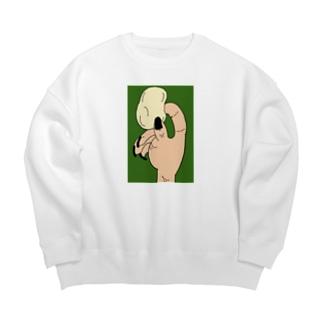 キム・ユキノのポテチ緑 Big silhouette sweats