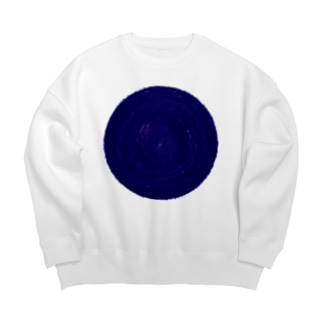 SAIWAI DESIGN STOREのone blue hole Big silhouette sweats