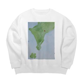 ザキヤマ カナコの無い国の地図1 Big silhouette sweats