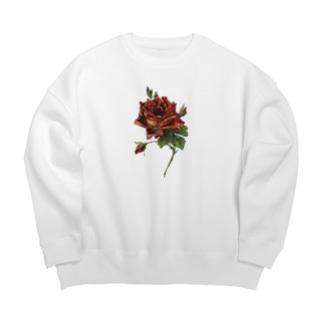 manmonjijiの一輪の薔薇 Big silhouette sweats