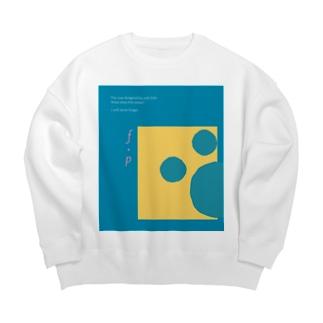 """ATELIER """"MONOCHROME""""のf・p(Color:) Big silhouette sweats"""