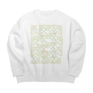 yuruholismの幾何学模様 ピンク イエロー グリーン ブルー シンプル Big silhouette sweats