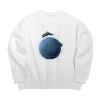 planet of the fish Big silhouette sweats