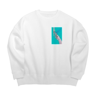 「hold hands」 Big silhouette sweats