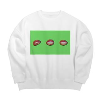 リップ(グリーン) Big Crew Neck Sweatshirt