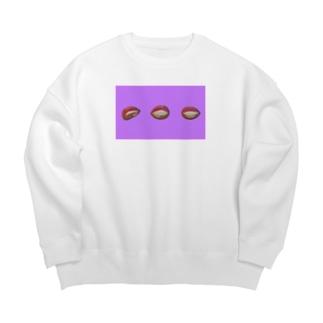 リップ(パープル) Big Crew Neck Sweatshirt