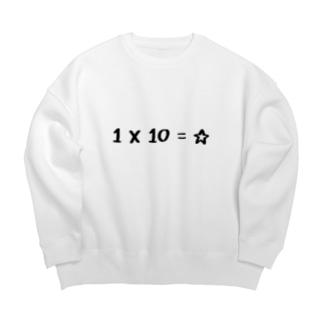 ボン の1X10=☆ Big silhouette sweats