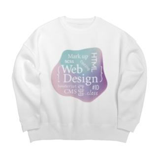 ウェブデザイン タイポグラフィ Big silhouette sweats