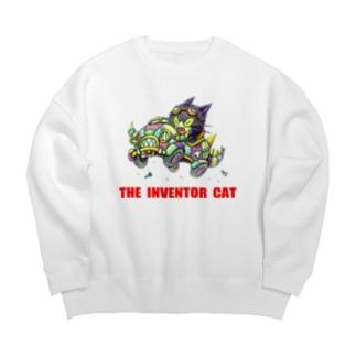 発明家の猫。 Big silhouette sweats