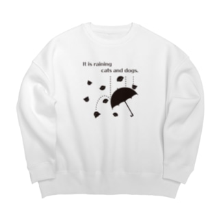 おもしろ英語表現(cats and dogs)黒ver Big silhouette sweats