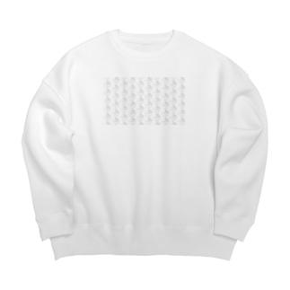 のんすけロゴパターン Big silhouette sweats