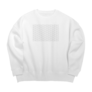 のんすけロゴパターン(透明) Big silhouette sweats