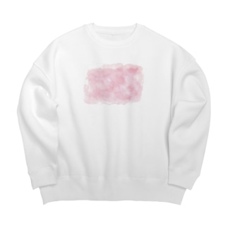 color ピンク Big Silhouette Sweat