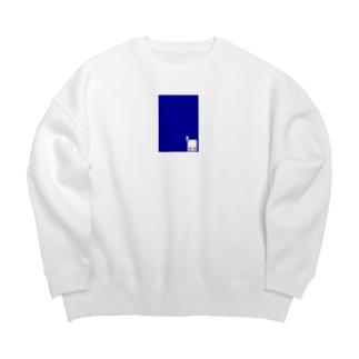 ショップQR×ブルー Big silhouette sweats