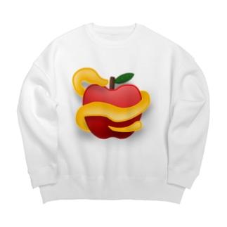 リンゴ Big silhouette sweats