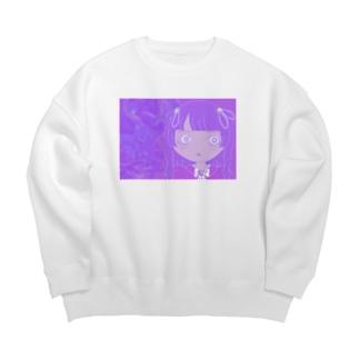 Portrait No.xxx  BLUEBERRY Big Crew Neck Sweatshirt