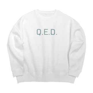 Q.E.D. パステルカラー Big silhouette sweats
