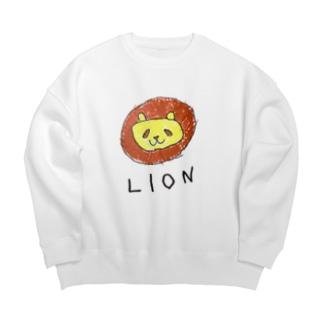 ライオンのラインくん Big silhouette sweats