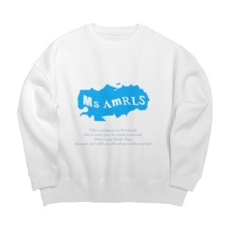 Ms Amaryllis のMs Amaryllis continent logo Big silhouette sweats
