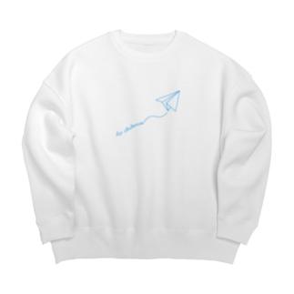 【ロシア語】紙飛行機でさようなら Big silhouette sweats