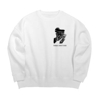 NIKKA SHOT BAR 黒ロゴ Big silhouette sweats