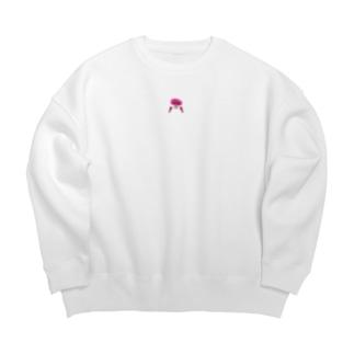ピンクおさげの女の子 Big silhouette sweats