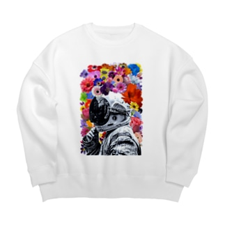 ASTRONAUT and FLOWERS Big silhouette sweats