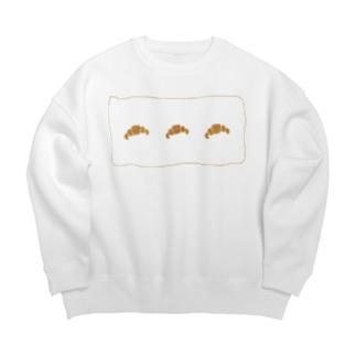 クロワッサン Big Crew Neck Sweatshirt