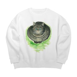 鯖猫〜「猫は猫」より〜 Big silhouette sweats