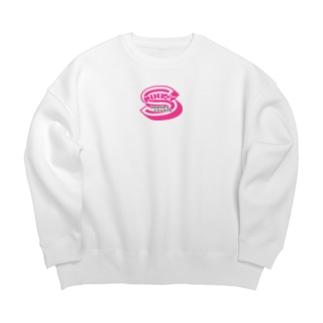 Pinky extra Big Crew Neck Sweatshirt