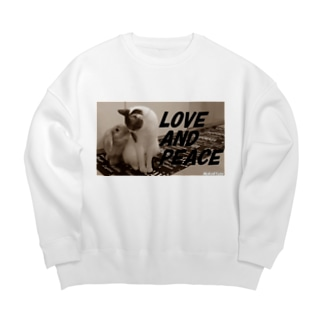 LOVE AND PEACE クラッシックVer Big silhouette sweats