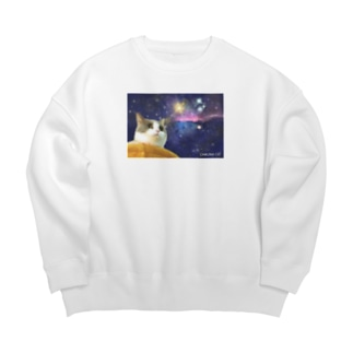 space CHIKUWA CAT Big silhouette sweats