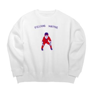 NIKORASU GOの野球Tシャツ「守備職人」 Big silhouette sweats