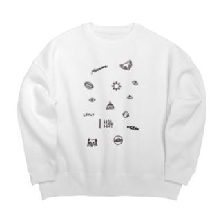 フィンランドの概念 (黒/タテ) Big silhouette sweats