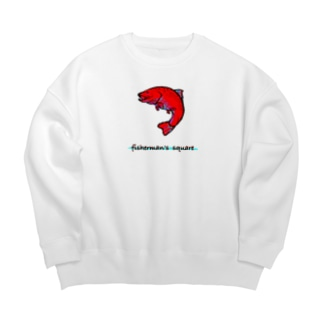 fisherman's square『Red trout』 Big silhouette sweats