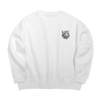 WHITE TIGER Big silhouette sweats
