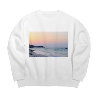 Sunset on the beach Big silhouette sweats