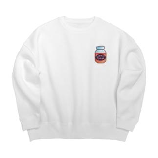 花梨シロップbottle(茜色) Big Crew Neck Sweatshirt