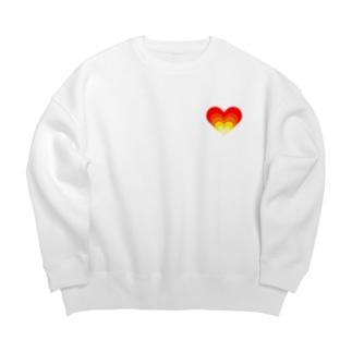 Burning heart 🔥❤️🔥 Big silhouette sweats