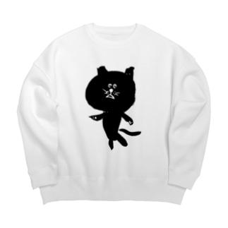 筆猫-fudeneko- Big silhouette sweats